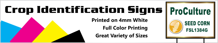 Crop Identification Yard Signs - Order Custom Signs Online