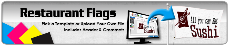 Restaurant Flags - Order Custom Flags Online