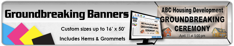 Groundbreaking Ceremony Banners | Signline.com