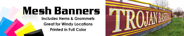Custom Full Color Mesh Banners from Signline.com