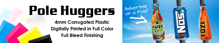 Pole Huggers - 4 mm Corrugated Plastic Signs | Signline.com