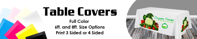 Table Covers in Full Color | Signline.com