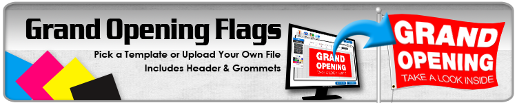 Grand Opening Flags - Order Custom Flags Online