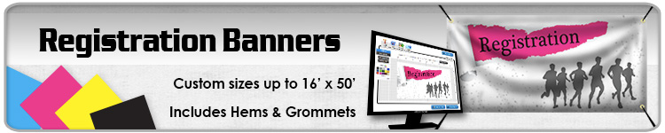 Registration Banners - Order Custom Banners Online