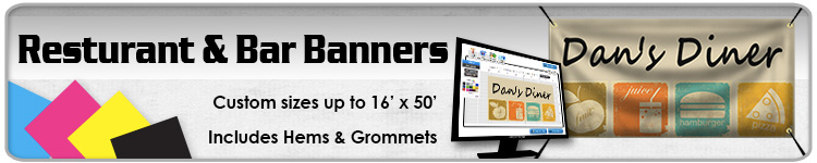 Resturant & Bar Banners - Order Custom Banners Online