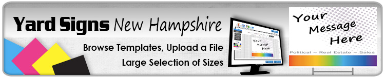 Advertising Yard Signs New Hampshire- Order Online