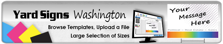 Advertising Yard Signs Washington- Order Online