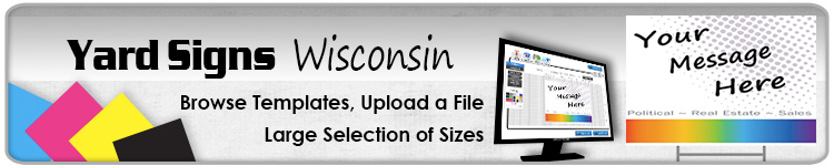 Advertising Yard Signs Wisconsin- Order Online
