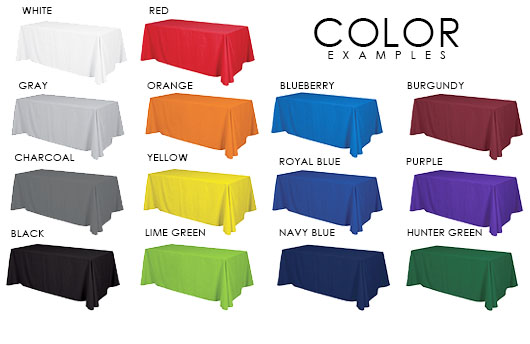 Blank Throw Table Cover Colors | Signline.com